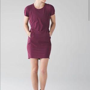 Lululemon And Go Endeavor Dress Red Grape size 8
